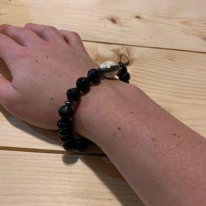 Silpada black stretch bracelet